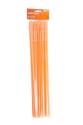 Sugrör, neon orange, 25st. 44cm