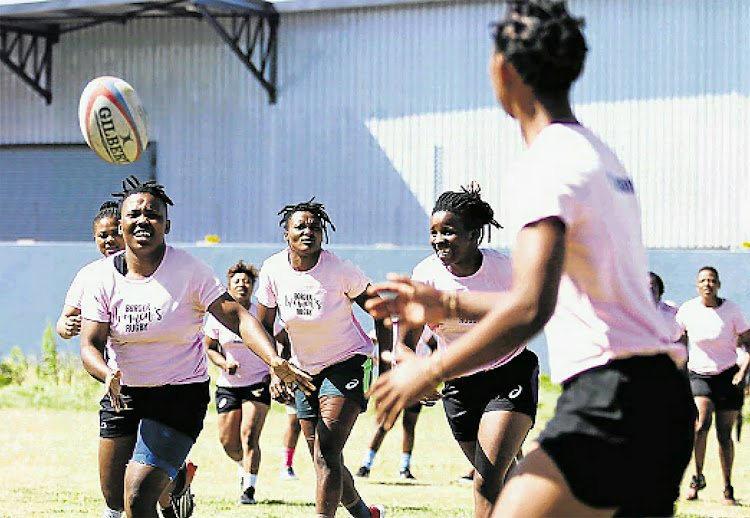The Border women's rugby team goes through their paces at training ahead of their final against Western Province at the Buffalo City Stadium on Saturday.