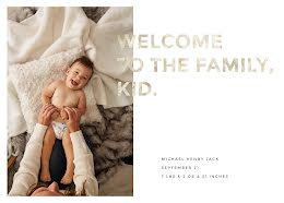 Henry's Birth Announcement - Baby Card item