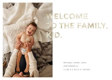 Henry's Birth Announcement - New Baby Announcement Template