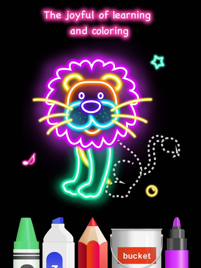 Draw Glow Animals Android 12
