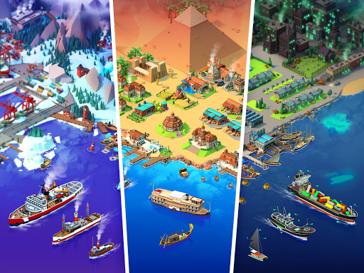 Sea Port: Build Town & Ship Cargo in Strategy Sim 1.0.113 screenshots 24
