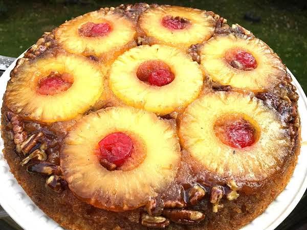 ~ Pineapple Pecan Upside Down Cake ~