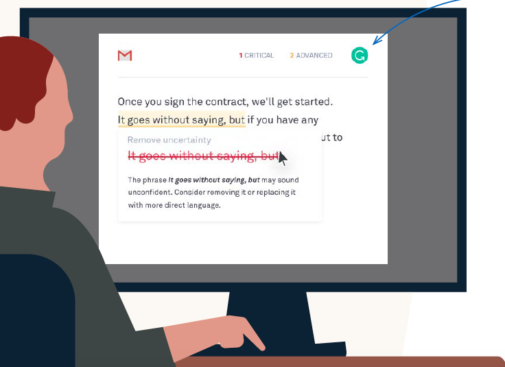 Add the free Grammarly extension to automatically check your work for typos, grammar errors, and other cringe-worthy mistakes. Source: LinkedIn