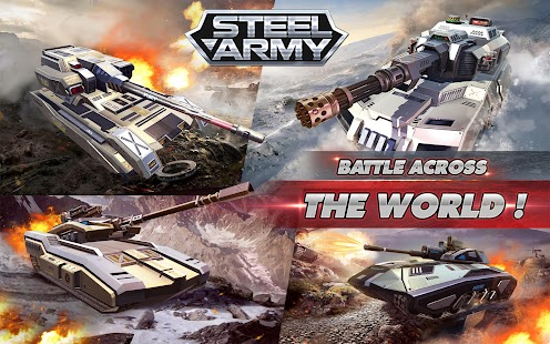Hack Game Steel Army: 3D Tank War - Online Tank Battle Cho Android