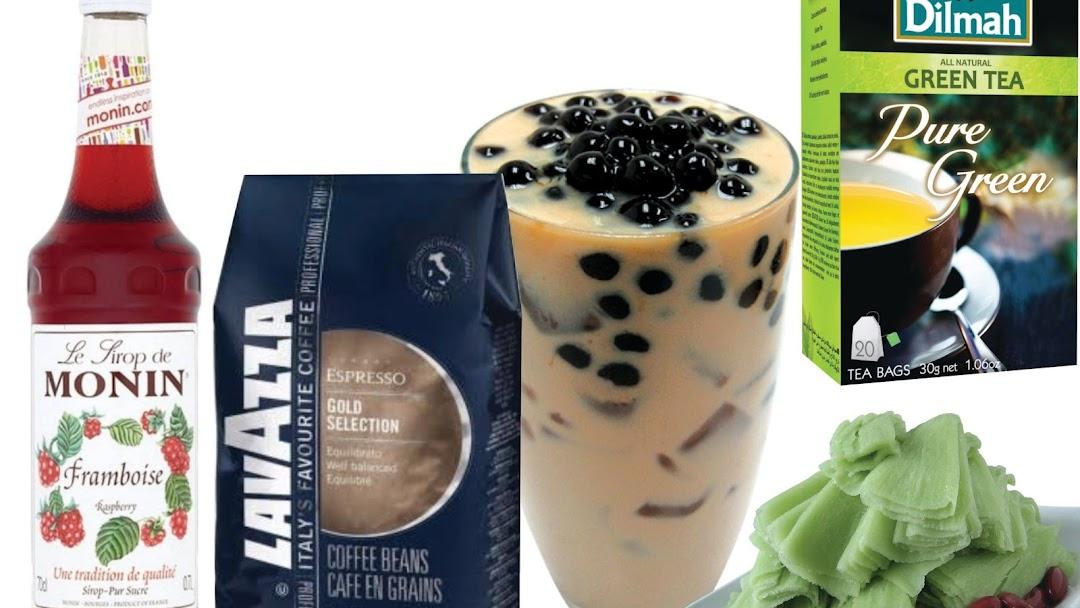 Monin syrup Supplier, Bubble Pearl Tea, Lavazza Coffee bean, Dilmah