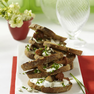 Mushroom and Robiola Sandwiches.