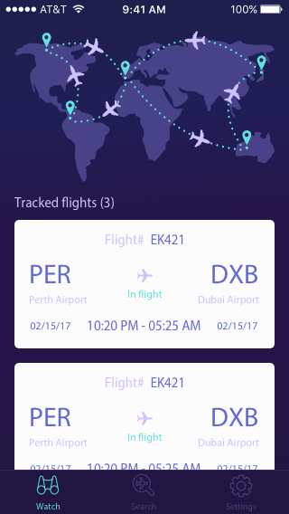 Flight Track and Timer (Premium)- screenshot