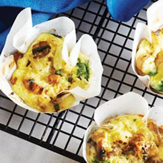 Spinach, Mushroom and Onion Mini-Frittatas Recipe