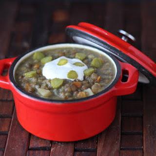 Dill Pickle Lentil Soup