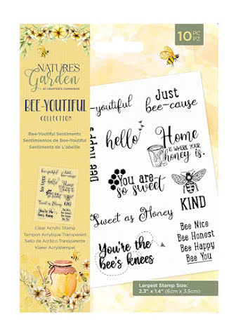 Natures Garden Bee-Youtiful Collection Clear Acrylic Stamp - Sentiments