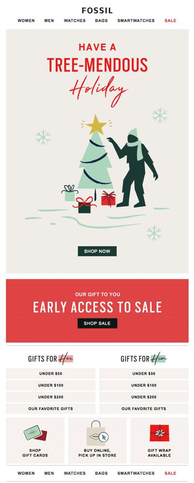 AARRR E-mail de venda sazonal