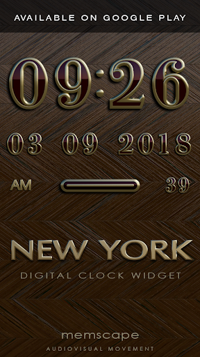 Screenshot for NEW YORK Designer Clock Widget in United States Play Store