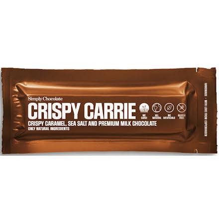 Crispy Carrie - chokladbar med karamell & havssalt – Simply chocolate