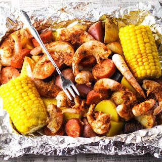 Shrimp Boil in Foil.