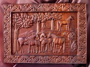 Photo: Tamaño: 78 x 109 cm. || Talla en madera. Woodcarving.   Puedes conocer más de este artista en el blog: http://tallaenmadera-woodcarving-esculturas.blogspot.com/