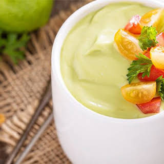 Chilled Cucumber and Avocado Soup.