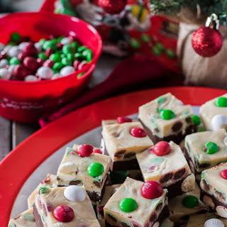 Triple Chocolate M&M'S® Peppermint Bark Fudge