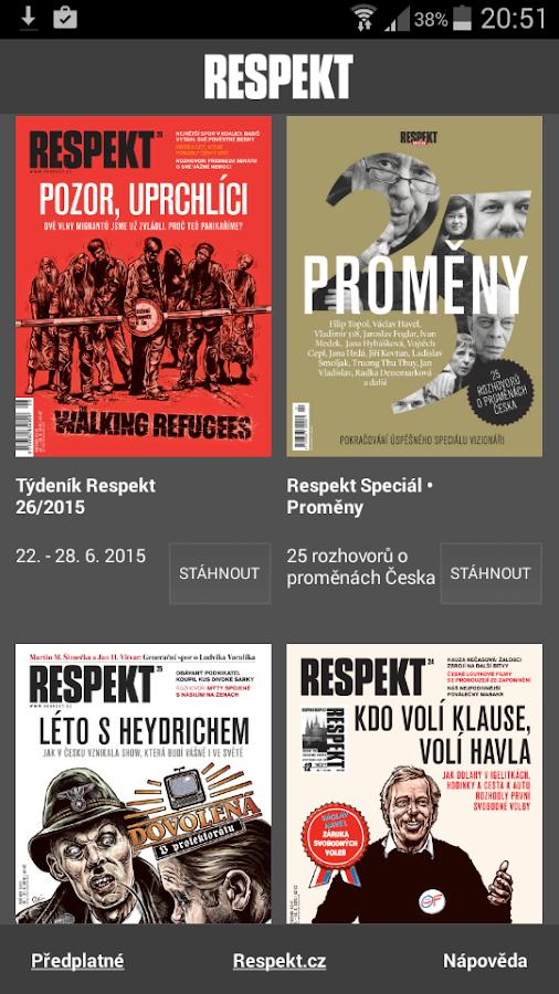 Týdeník Respekt- screenshot