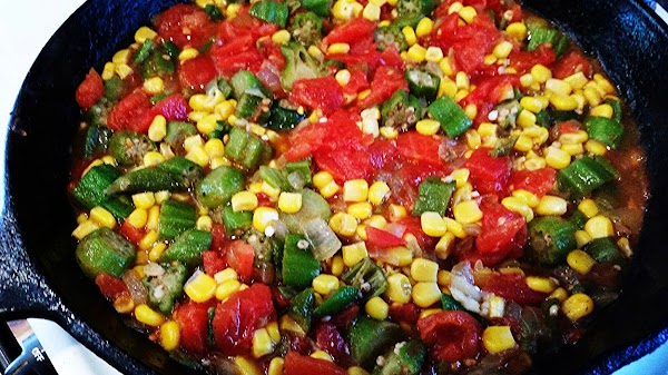 Add corn, tomatoes, juice and seasonings. Continue cooking until well heated through and begins...