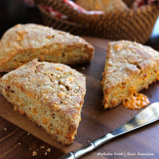 Whole Wheat Bacon Cheddar Scones