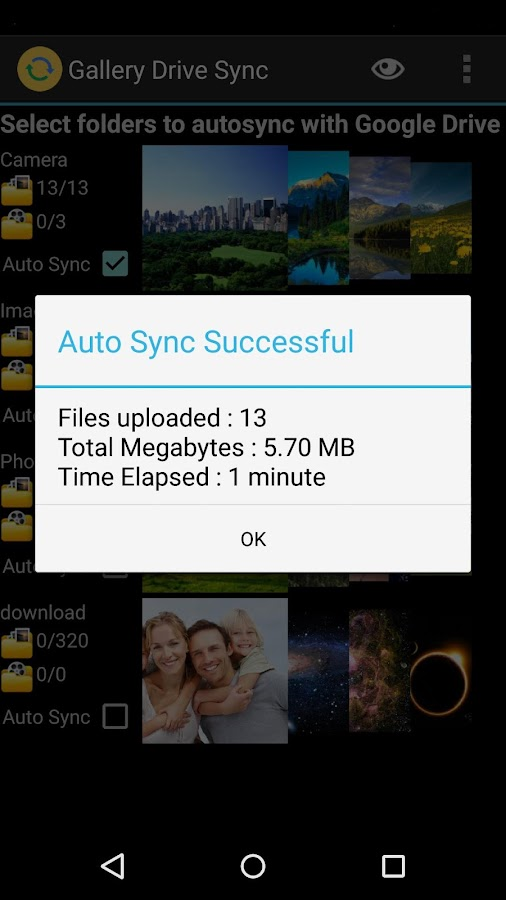Gallery Drive Sync- screenshot
