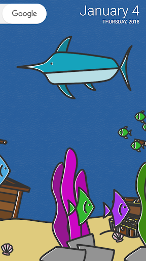 cartoon aquarium live wallpaper screenshot 2