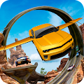 Flying Car Stunts On Extreme Tracks APK