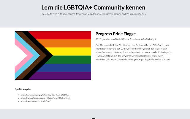 Neuer Tab mit queerer Information