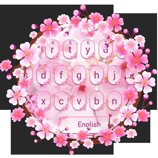 Romantic Sakura Keyboard Theme