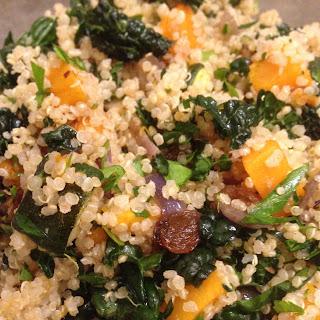 Quinoa, Butternut Squash, Kale Salad