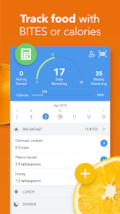 iTrackBites - Diet Tracker & Weight Loss Diary Screenshot