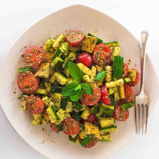 Zucchini Penne Pesto Plate