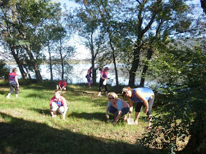 Photo: DA ACT planting bulbs and picnicking on Springbank Island on Lake Burley Griffin, Canberra 10 April 2010 - images attached