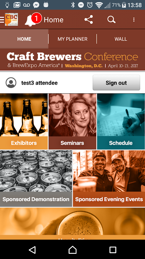 Craft Brewers Conference- screenshot