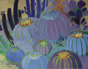 Photo: Barrel Cacti, oil on canvas by Nancy Roberts, copyright 2014. Private collection.