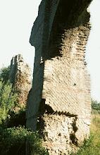 Photo: Deatils of the Mornant bridge in Opus Reticulatum