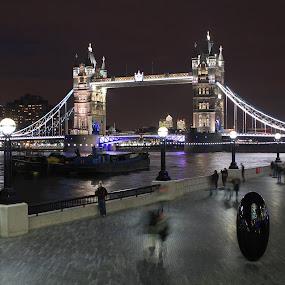 tower bridge, london by Davor Kapetan - City,  Street & Park  Street Scenes ( night, lights )
