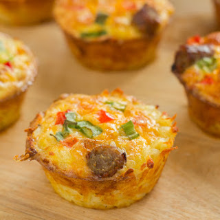Cheese And Sausage Muffins With Spiralizer Vegetables
