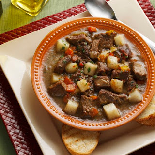 Crockpot Beef Stew With Onion Soup Mix.