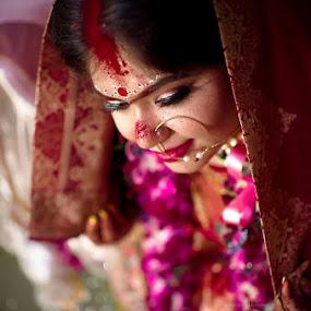 Sindoor Portrait  by Pranab Sarkar - Wedding Bride ( candid, wedding, portrait, indian wedding, indian )