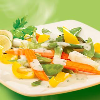 Kokos-Limetten-Sauce z. B. zu gemischtem Gemüse