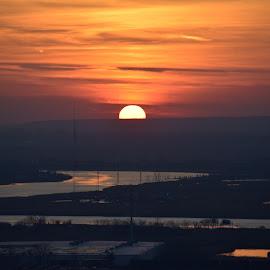 Sunset NJ by Morris Cooper - City,  Street & Park  Skylines