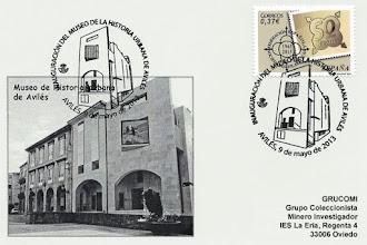 Photo: Tarjeta del matasellos de la inauguración del Museo de Historia Urbana de Avilés, 2013