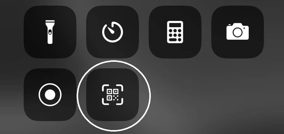how to scan qr codes control center