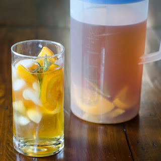 Homemade Iced Tea with Oranges and Rosemary