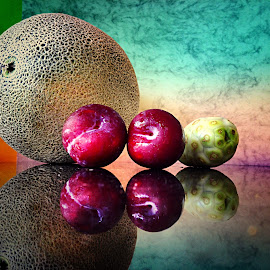 Cantaloupe, plums and noni by Janette Ho - Food & Drink Fruits & Vegetables