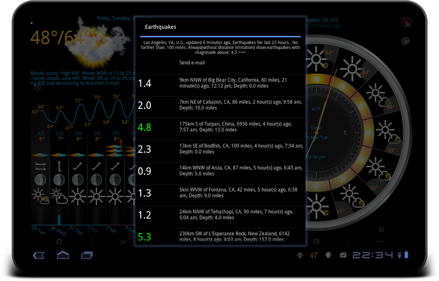 eWeather HD - weather, air quality, alerts, radar- screenshot