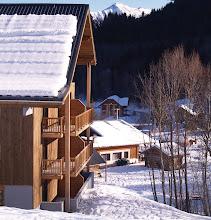 Photo: Façade la résidence en hiver