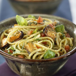 Seafood and Herb Spaghetti.